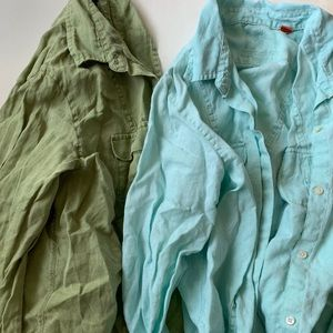2 Tommy Bahama relax linen button down shirts
